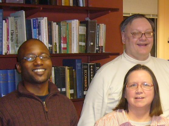 John Kuchta (white shirt) celebrates in 2009 with fellow HGS Board members David Harrell and Irene Marmi