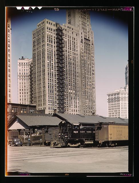 """The """"new east side"""" was a freight yard in the 1940's (Library of Congress)"""
