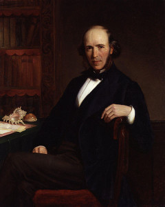 Herbert Spencer, by John Bagnold Burgess (died 1897)