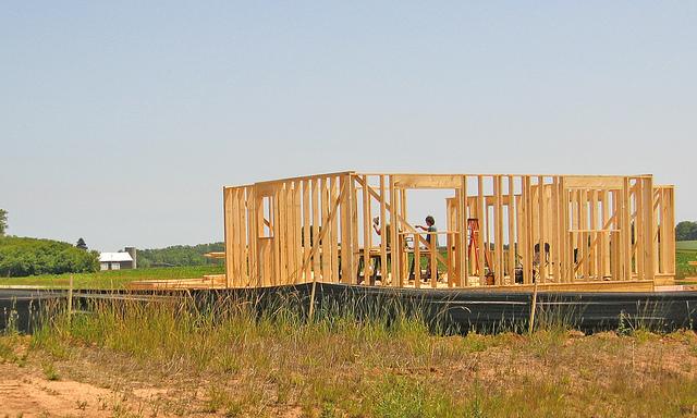 House construction on farmland Sheboygan Co credit: Brett VA
